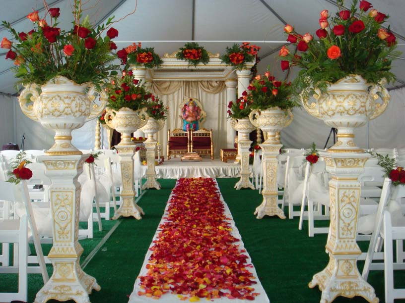indian theme artificial flower decoration in ca statues decoration